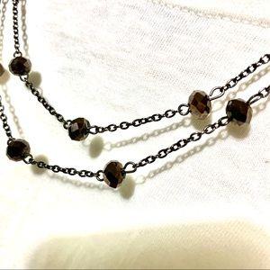 Jewelry - Dark Topaz Brown Double Strand Necklace